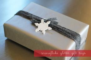 snowflake gift tags…