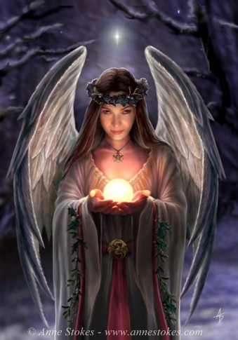 Yule Angel (c) Anne Stokes