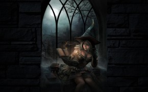 witchy wallpaper