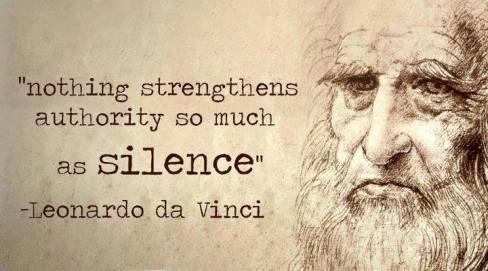 No more silence.